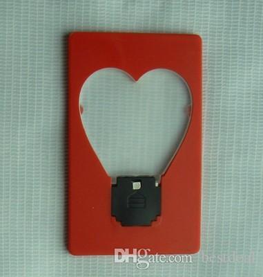 심장 지갑 지갑 미니 휴대용 사랑의 주머니 LED가 카드 라이트 램프 키즈 라이트 라이트 램프에 넣어 아이들을위한 장난감 선물을 주도