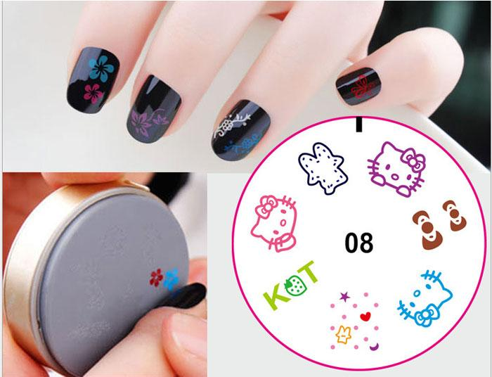 3d 25gpc Diy Nail Art Stamp Stamping Silicon Gel Plate Design