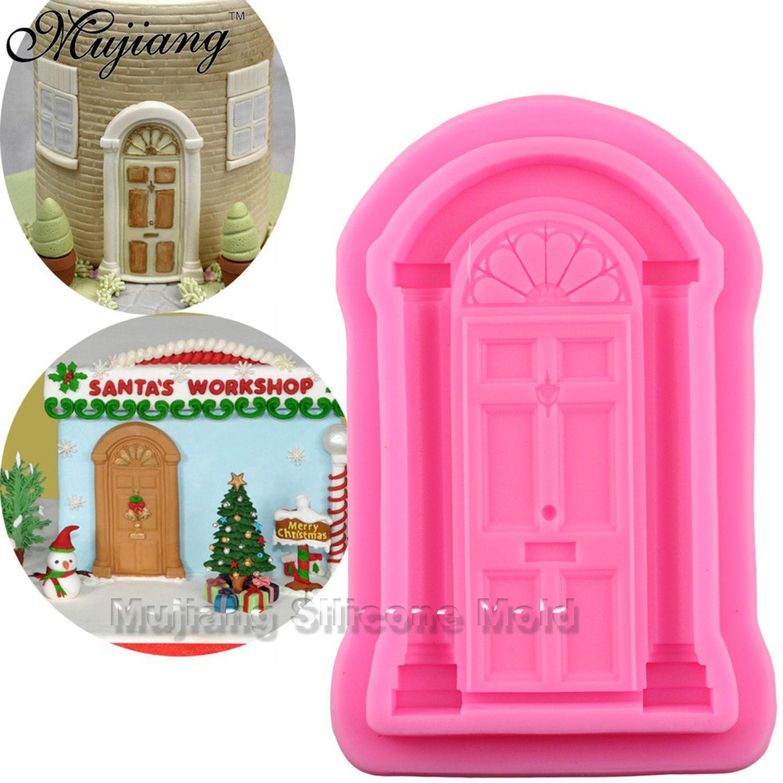Best Retro Door Cake Border Silicone Molds Christmas Fondant Cake ...