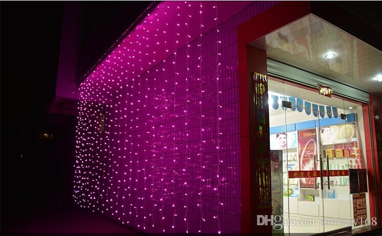 Rideau allume lumières de noël 10 * 8m 10 * 5m 10 * 3m 8 * 4m 6 * 3m 3 * 3m led lumières lampe de décoration de Noël Flash couleur féerique mariage décor
