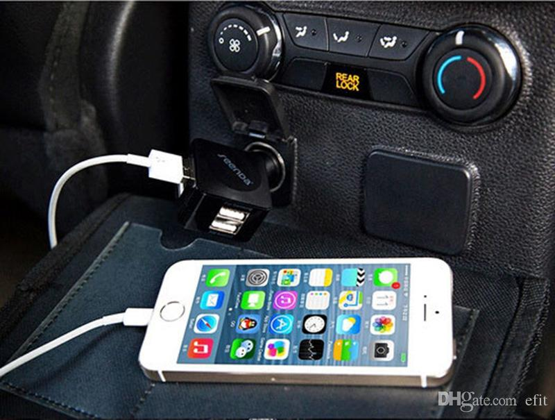 أحدث الإبداعي 4-ميناء USB شاحن سيارة المحمولة ICH-C01 العلامة التجارية 3.5A الناتج العالمي الهاتف شحن محول لسامسونج الهاتف الذكي S6