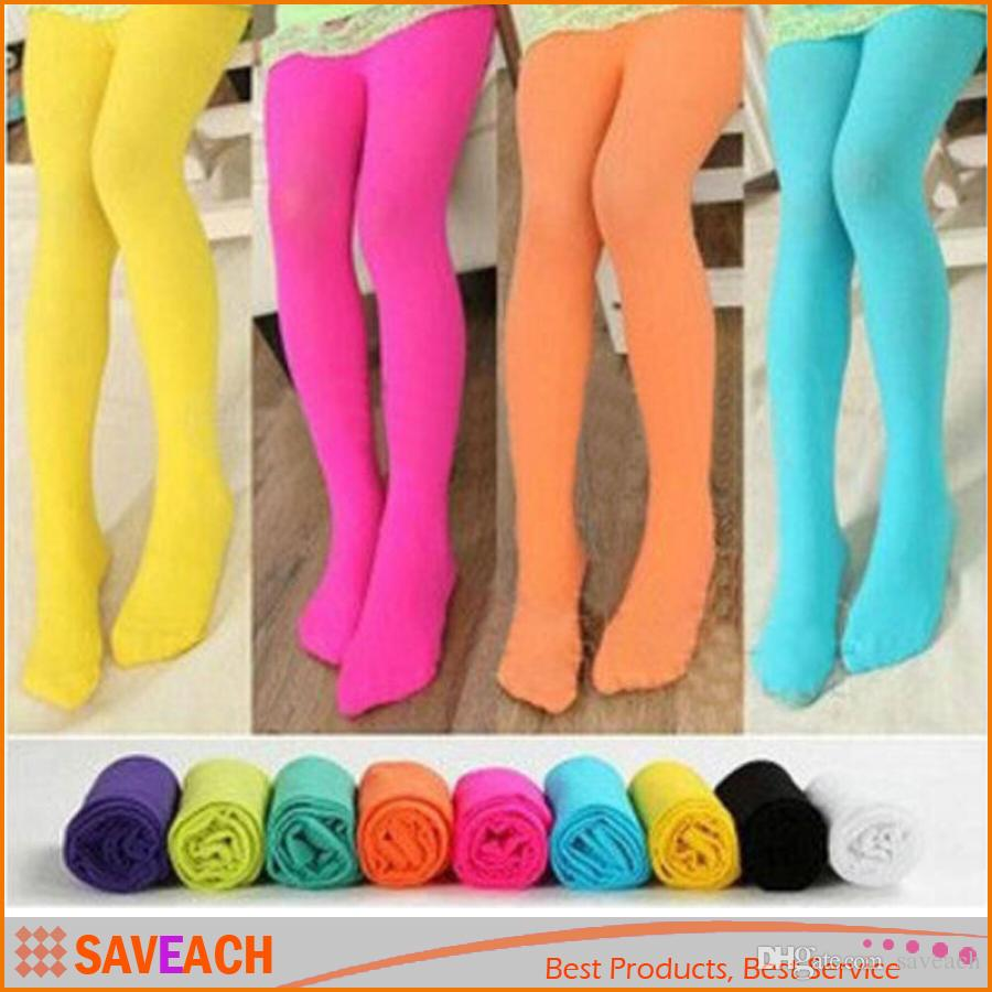 ce7fe2dceffd6 2019 Candy Colors Lovely Kawaii Children Girl Kids Velvet Pantyhose Tights  Opaque Dance Stocking Pants Spring Autumn Fall Winter From Saveach, ...