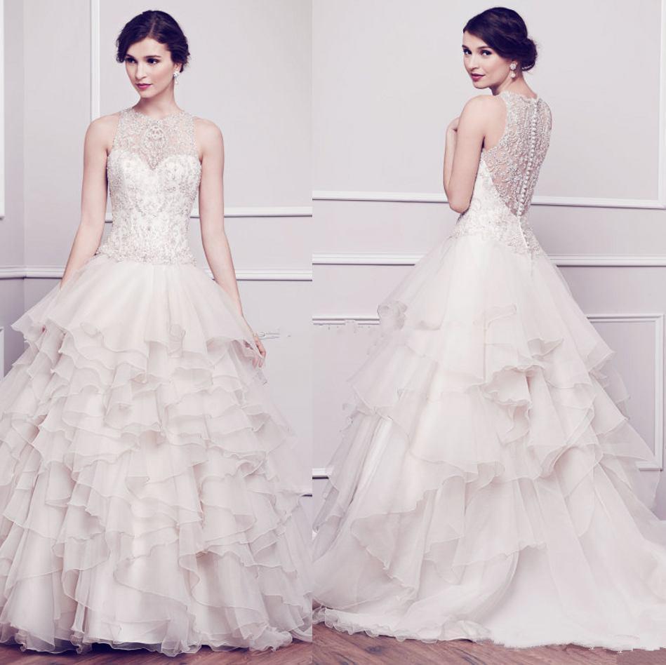 Designer Wedding Gowns Cheap: Discount Designer Wedding Dresses Bling Crystal Cheap