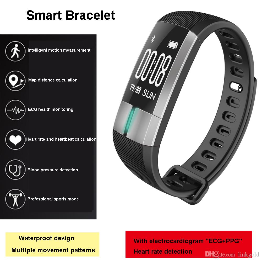 G20 ECG Heart Rate Smart Bracelet IP67 Swimming Waterproof Running Pedometer Temperature Blood Pressure Monitoring Exercise For The Elderly