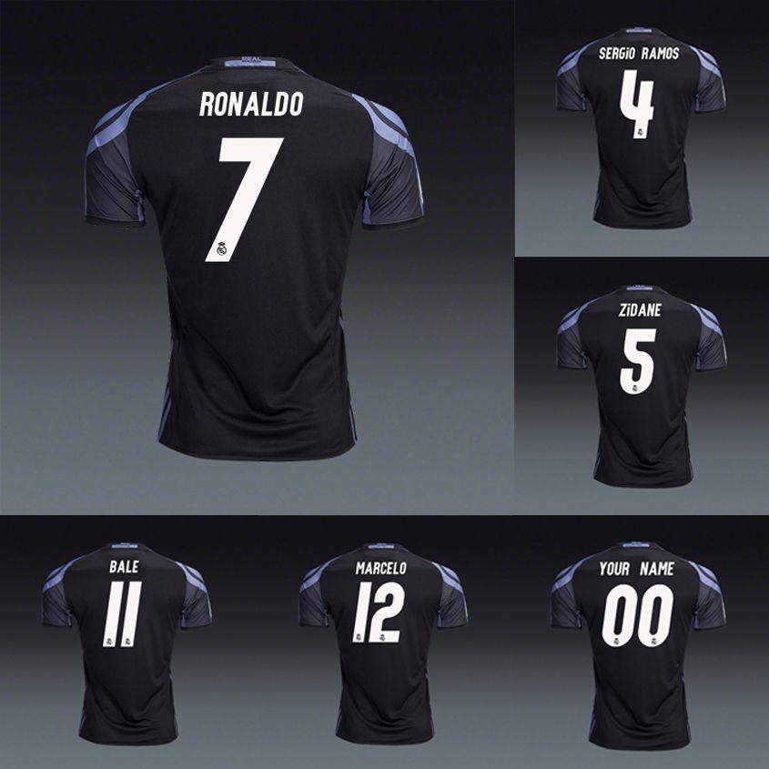 Versión Del Jugador Real Madrid 2016 2017 3er. Camisetas De Fútbol Negras  Camisetas Cristiano Ronaldo Gareth Bale Kroos Sergio Ramos Marcelo Isco  Zidane Por ... e96f23eff23c5
