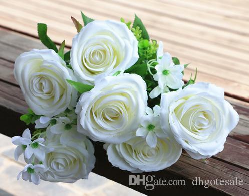 2018 Silk Rose Flower Bunch 11 Head/Piece 48cm Fake Rose Hydrangea For  Wedding Bride Bouquet Artificiao Decorative Flowers From Dhgotesale, $9.55  | Dhgate.