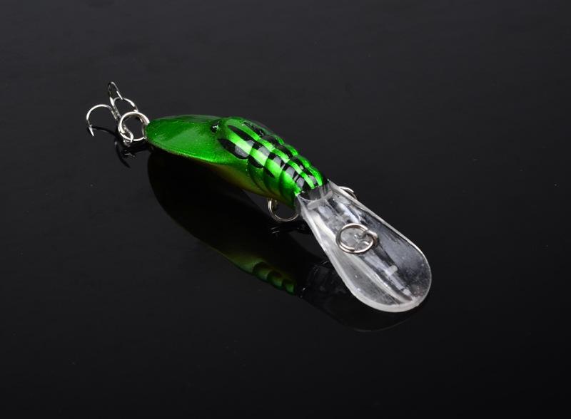 Gamberetti di simulazione Richiamo di gamberi Pesca di Crankbait d'acqua dolce Esca 4g 7cm minnow Plastica ABS Calamaro duro esca