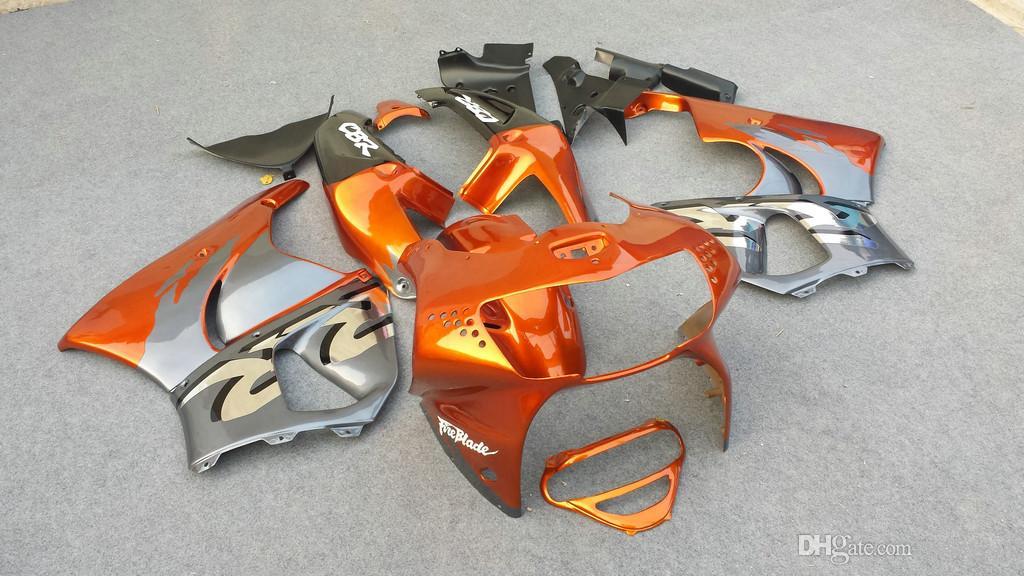 Zestaw wentylatorski dla Honda CBR900RR 98 99 CBR 900RR CBR900 CBR 900 RR 919 1998 1999 Pomarańczowy szary czarne wróżki zestaw + 7gifts hg87