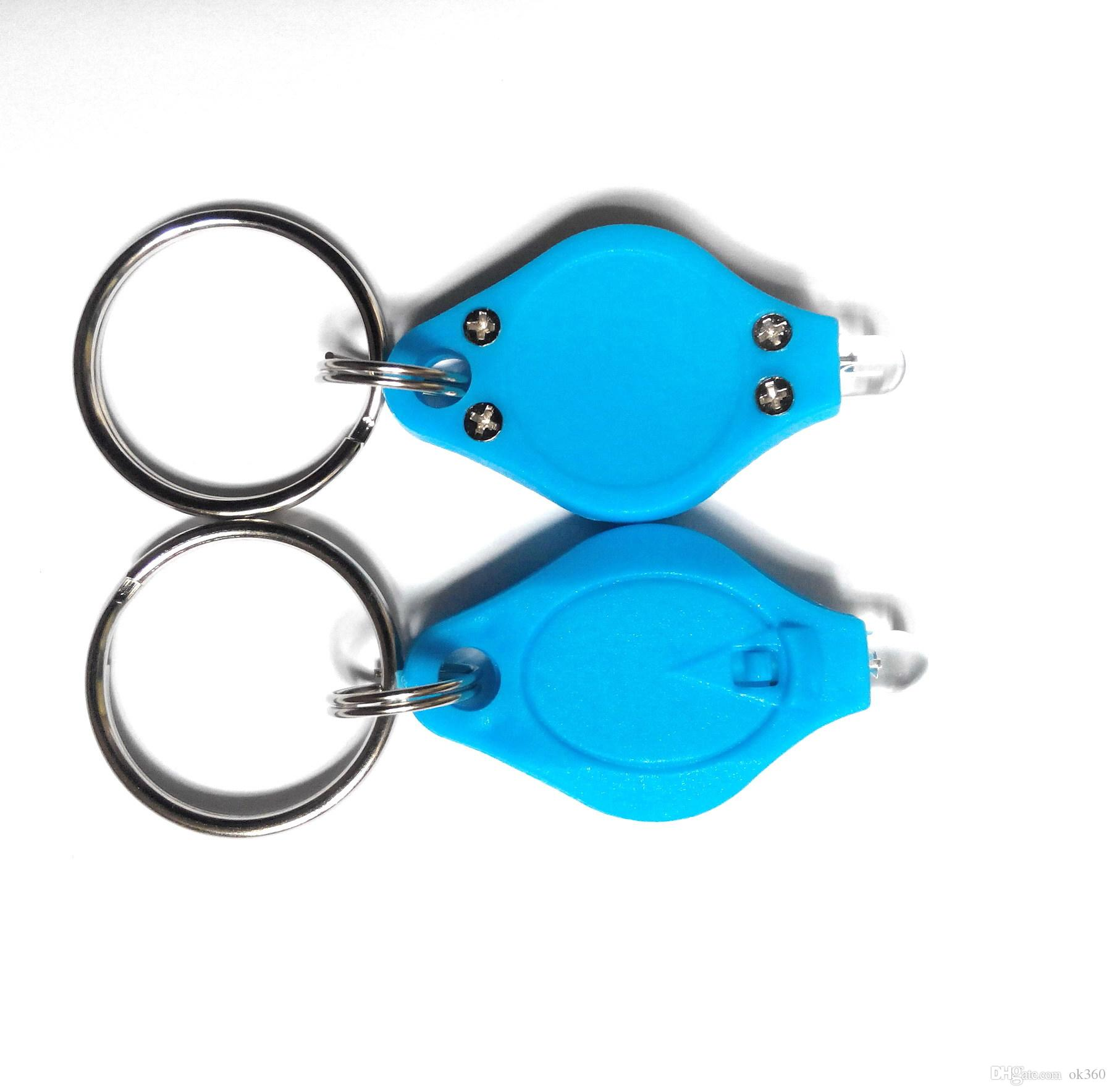 LED blanche UV Trousseau Light Mini lampe de poche LED porte-clés clés de voiture Accessoires 2 Micro lumière LED Flashlight Keychain Mini Couleurs Lumière