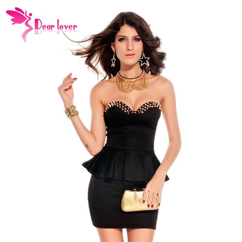 6f15ea849147 Dear Lover Vestidos Club Sexi Black Fashion Wrapped Chest Mini Bodycon Prom  Dress Saias Curtas Femininas Vestido De Festa LC2660 FG1511 Dressing Styles  For ...