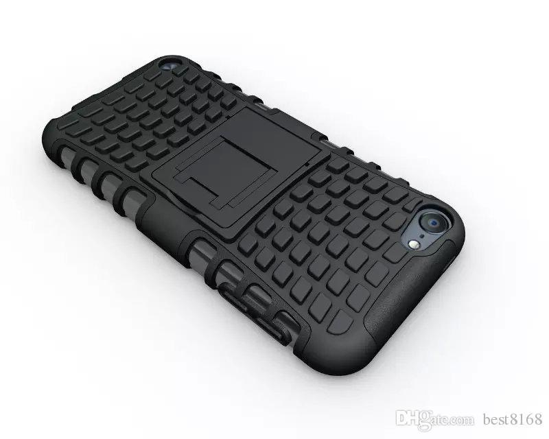 Para Ipod Touch 6 6G 6to 5 5G 5to Touch6 Touch5 Soporte de patada resistente Spider Fashion Hard Heavy Duty Armor TPU + Estuche rígido a prueba de golpes Piel cuadrada