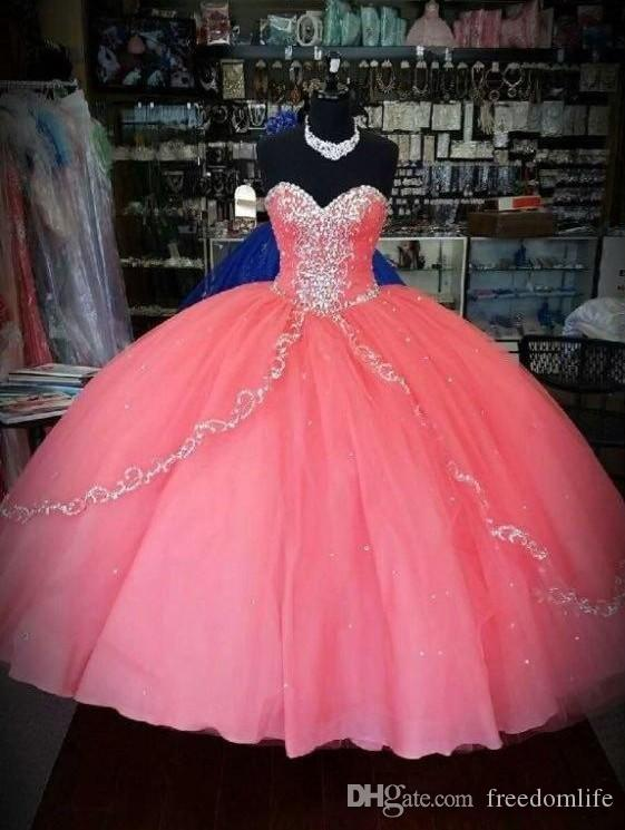 a6d2cc1a12f Vintage Coral Quinceanera Dresses Cheap Puffy Skirt Quinceanera Gowns  Ruffles Layers Tulle Sweetheart For 15 Years Party Ball Gowns Red And Black  ...