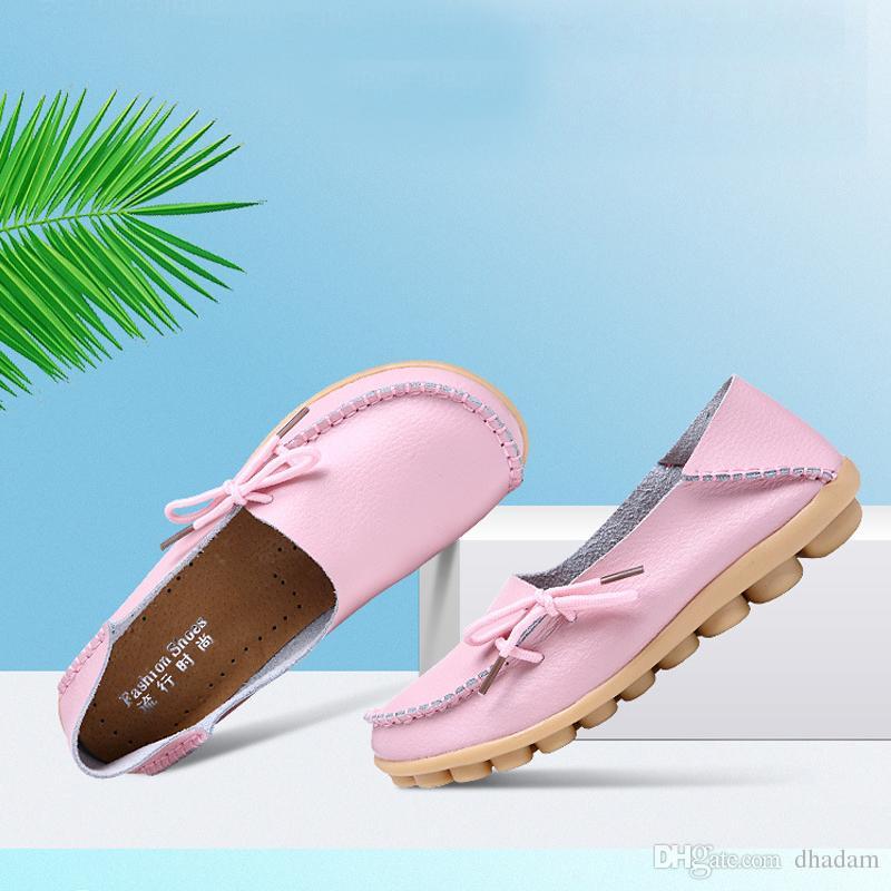 True Leather Carrefour Schuhe, Erbsen-Schuhe, Freizeitschuh, Krankenschwestern Schuhe, Lace Low Girls Hilfe einzelne Schuhe Großhandel