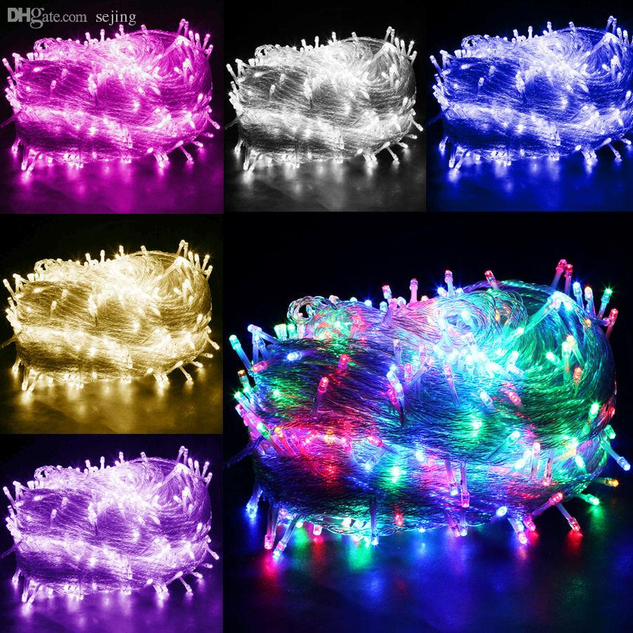 Wholesale Multi Color 50M 400 LED Bulbs Fairy String Light Outside Hanging Party Windows Garden