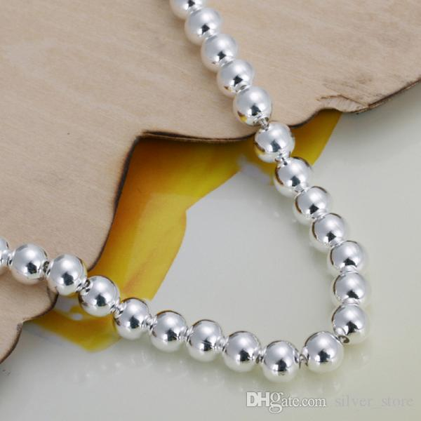 حار بيع أفضل هدية 925 silver6m الصلاة الخرز سوار - جوفاء dfmch114، العلامة التجارية الجديدة أزياء 925 فضة سلسلة ربط الأساور