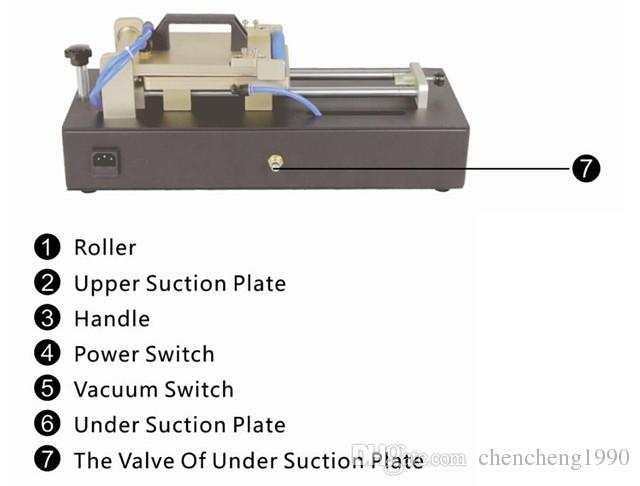 Großhandel TBK Erbaut in Vakuumpumpe OCA, Polarisierte Folie Laminiermaschine Reparatur Broken LCD Touchscreen Universal Kostenloser Versand