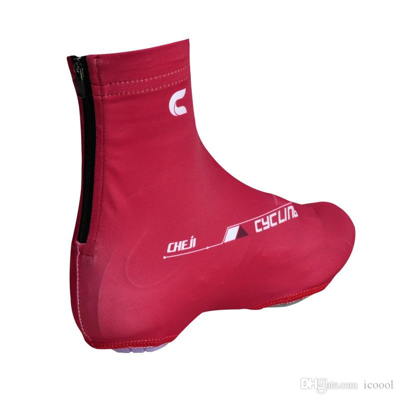 2017 Wholsale Windproof Cycling Shoes Cover Men Women Spring Autumn Touring Bike Overshoes MTB Bicycle Shoe Cover Cycling Zippered OverShoes