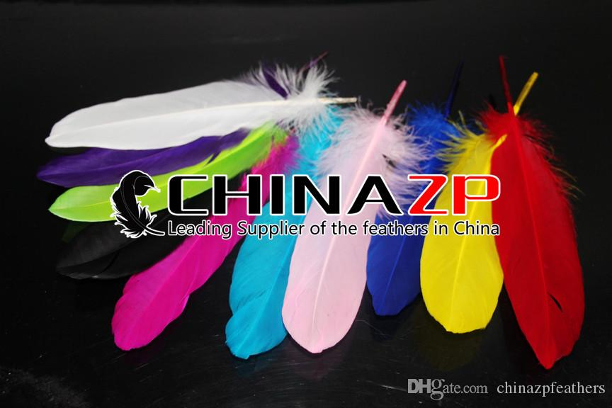 Leading Supplier CHINAZP Crafts Factory 10~15cm4~6inch Selected Top Quality Dyed Lavender Loose Goose Feathers for Carnival Decoration