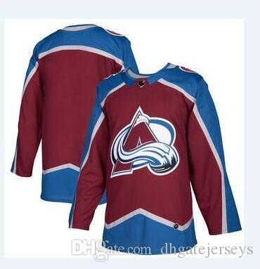 pretty nice 2865b 721f4 2018 nhl hockey jerseys cheap Colorado Avalanche Burgundy Authentic Custom  Jersey store usa sports ice hockey blank personalized factory AD