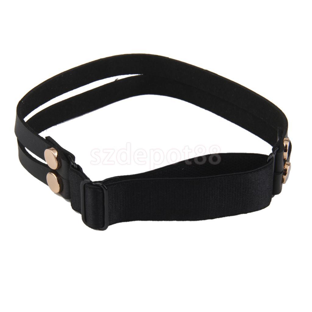 Sexy Handmade Punk Rock Goth Double Row Elastic Leather Garter Belt Leg Ring