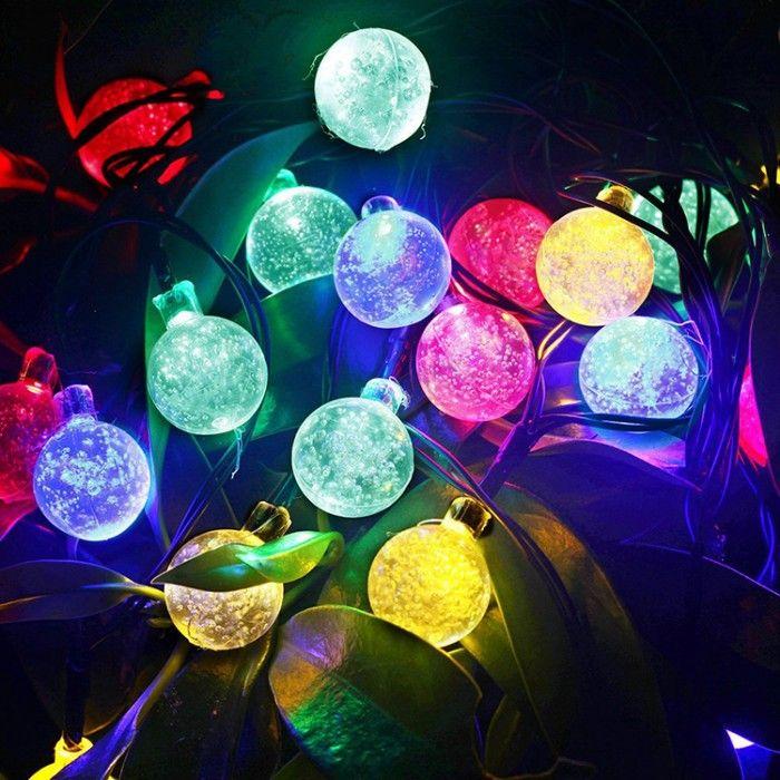 Słoneczne światło 4,8m 20led Boże Narodzenie Dekoracyjne Stringi Lekkie Ball Light Festival Light Outdoor Garden Courtyard