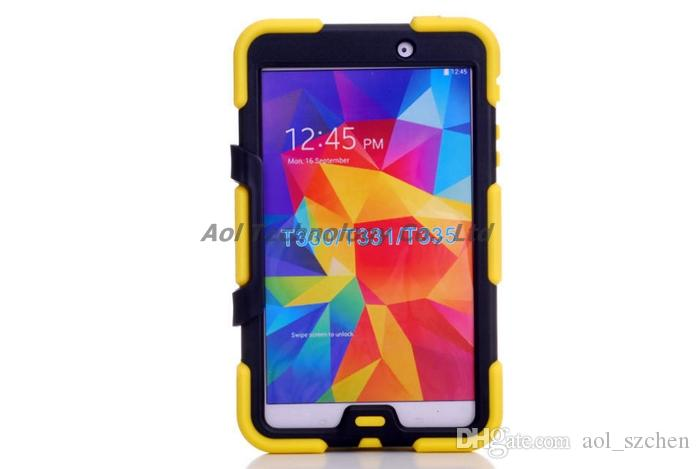 "Tablet pc case for samsung GALAXY Tab 4 8"" T330 7.0 T230 Tab3 P3200 10.1"" P5200 silicone waterproof dustproof resistance shell"