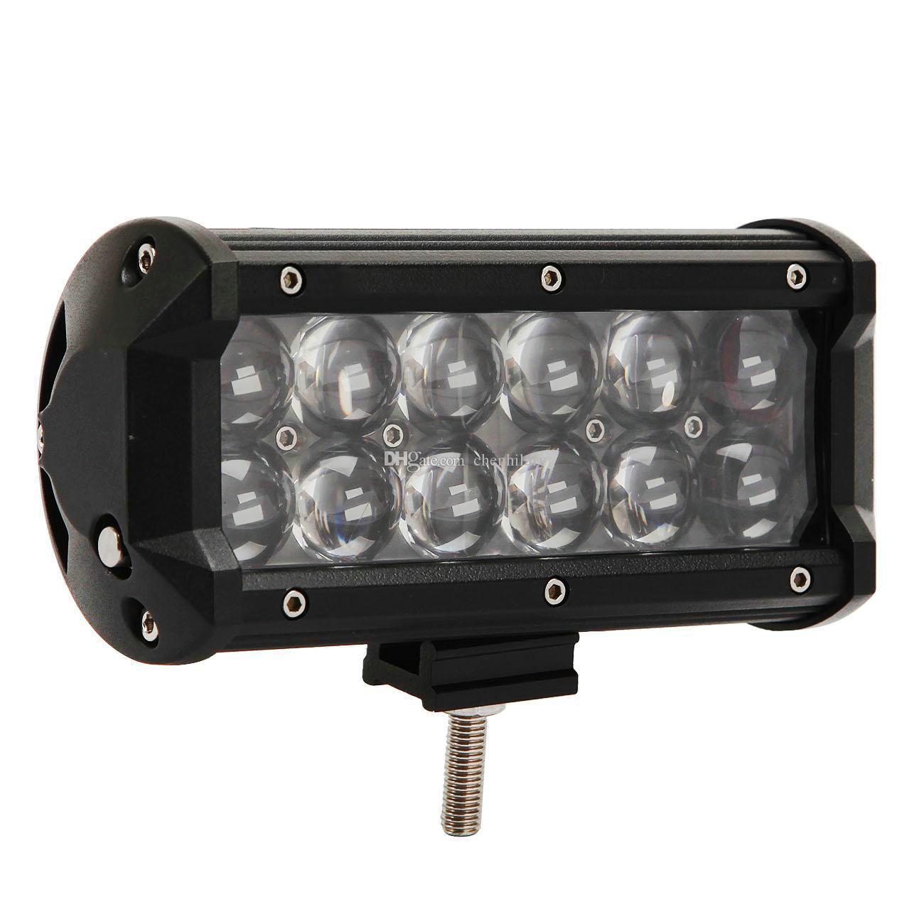 7 '' Osram LED Bar 60W 7 Zoll LED Lichtleiste LKW SUV JEEP ATV Offroad 4x4 12V 24V Spot Flut 12X5W Osram LED Arbeitslicht