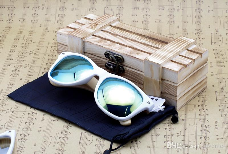 BOBO BIRD Handmade Sunglasses For Men Women Cheap Bamboo Sunglasses With Colorful Len Accept Drop Shipping OEM As Best Gift 2017 New Arrival