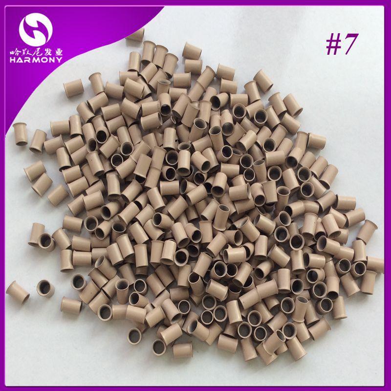 Flared Copper tubes for Stick I-tip Hair Euro Locks Micro Links Micro Rings /bottle 4.0*3.6*6.0mm Dark blonde Color