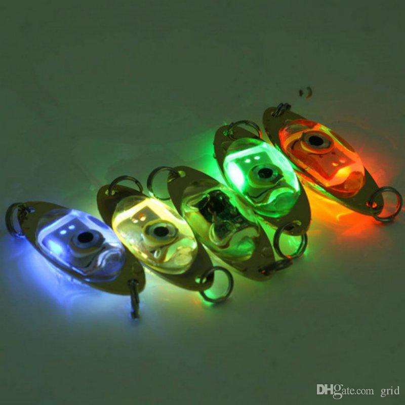 Free DHL Wholesale Flash Lamp LED Deep Drop Underwater Eye Shape Fishing Squid Lure Light