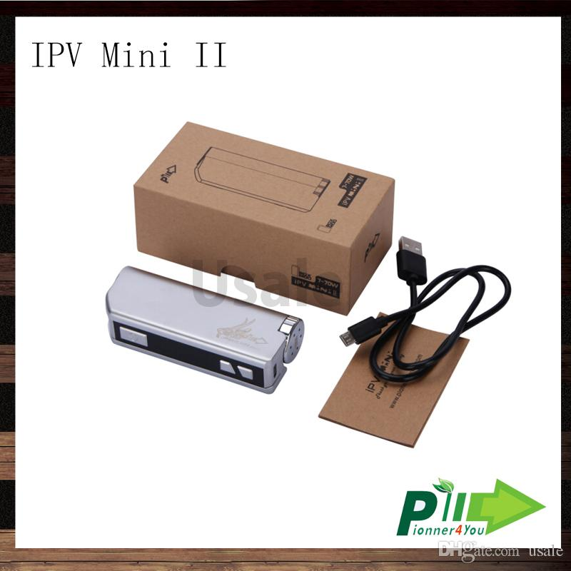 Pioneer4you iPV Mini II 70W Box Mod iPV Mini 2 VW E-cigarette Mod With OLED Screen Fit VS Kanger Kbox Sigelei Mini 50W 100% Original