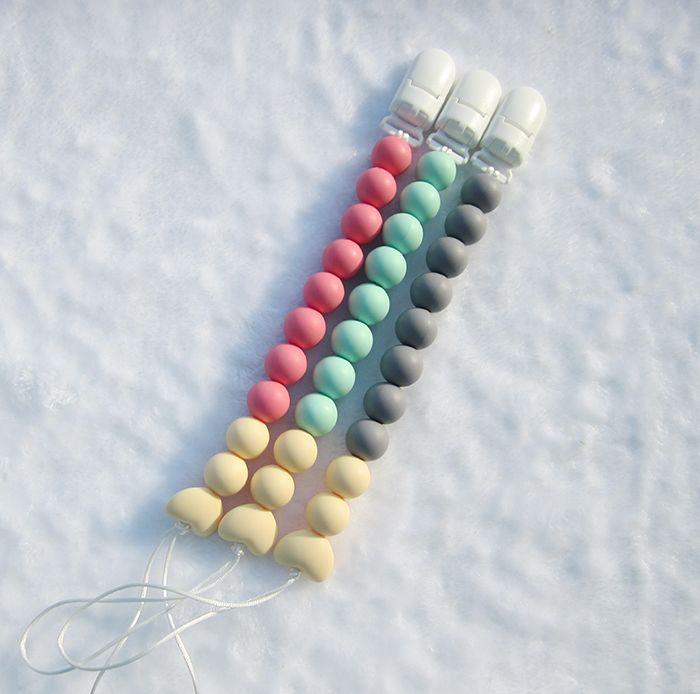Мода силиконовые соску клип детские жевательные силиконовые шарики BPA бесплатно соску цепь прорезывания зубов игрушка кулон соску держатели Оптовая