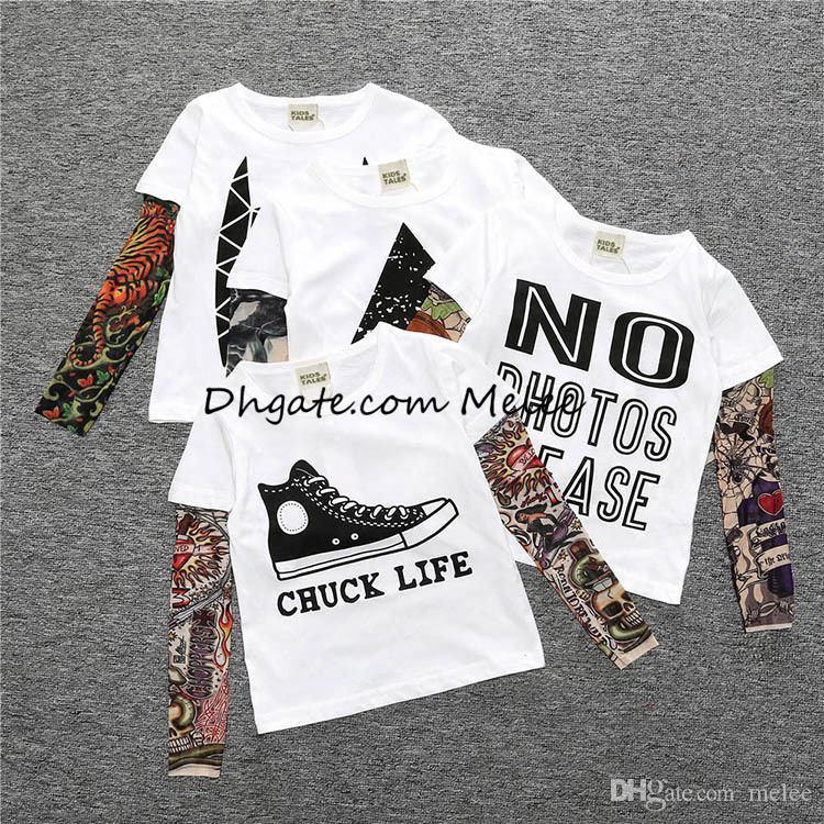Kleine Maven Ins Kids Baby Langarm Weihnachten T-Shirt Jungen Gestreift Sant T-shirt Tops Mädchen Tier Baumwolle Tshirt Kinder Polos für 1-7t