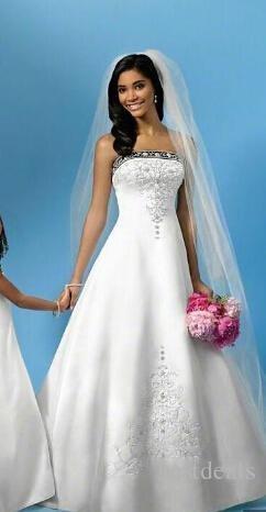 حمالة جديد أبيض أزرق خط فساتين الزفاف الحرير 2020 ربيع الخريف المرأة خمر قطار المحكمة التطريز شاطئ أثواب الزفاف بالطلب