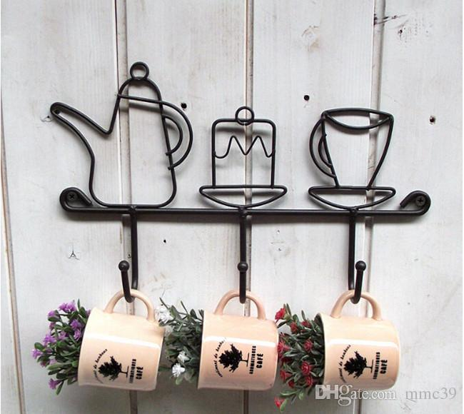 Charming 2018 2 Models Vintage Brown Kitchen Bedding Room Storage Metal Hooks Wrought  Iron Birds And Kettle Organization Home Decor Steel Wall Hooks Rails From  Mmc39 ...
