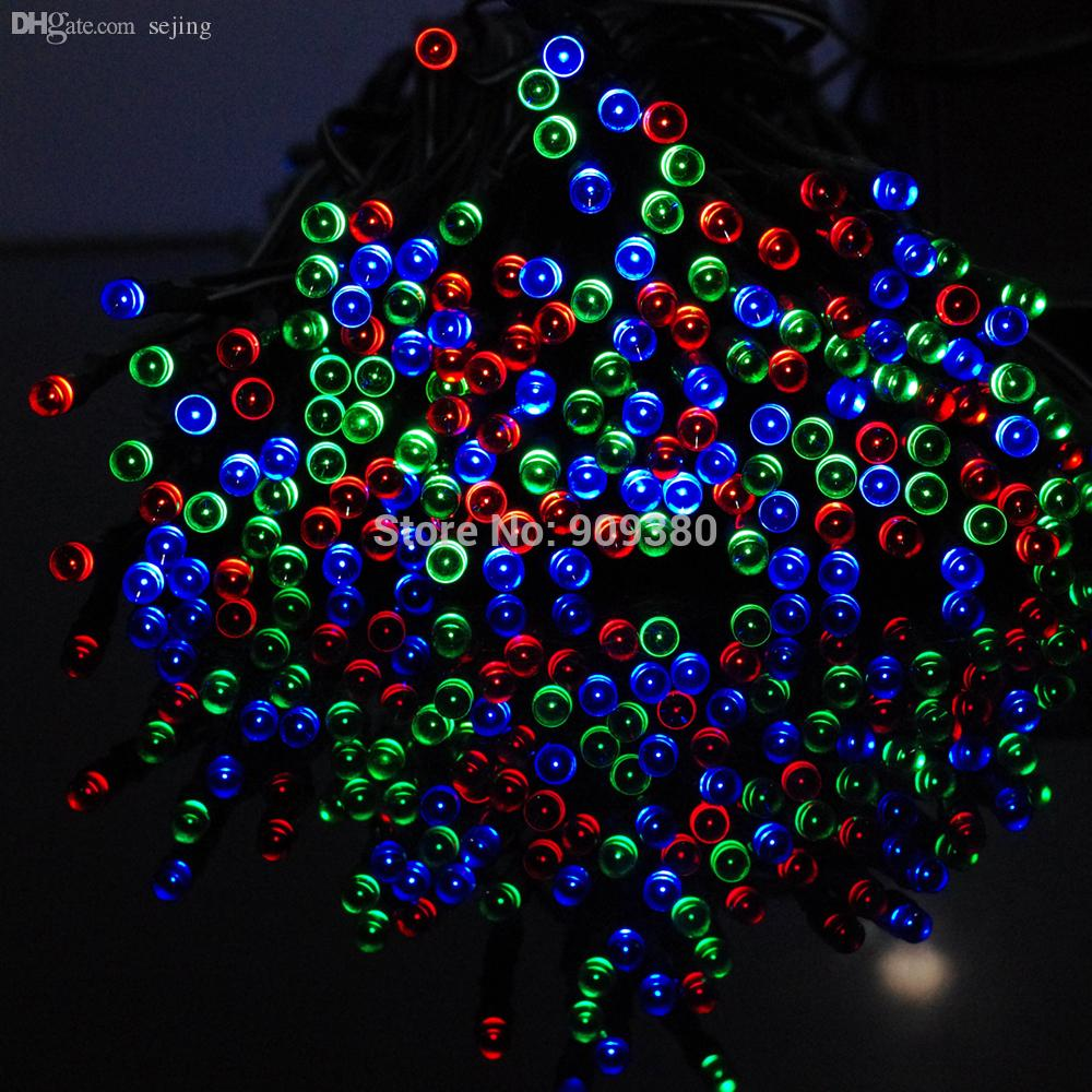 wholesale solar christmas lights 72ft 22m 200 led 8 modes solar fairy string lights for outdoor gardens homes wedding christmas party blue led string