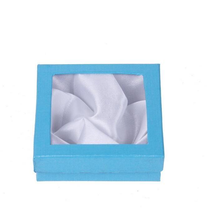 12st smycken charm armband armband klocka presentförpackningar fall display box 85x85x25mm Flera färger skickas slumpmässigt