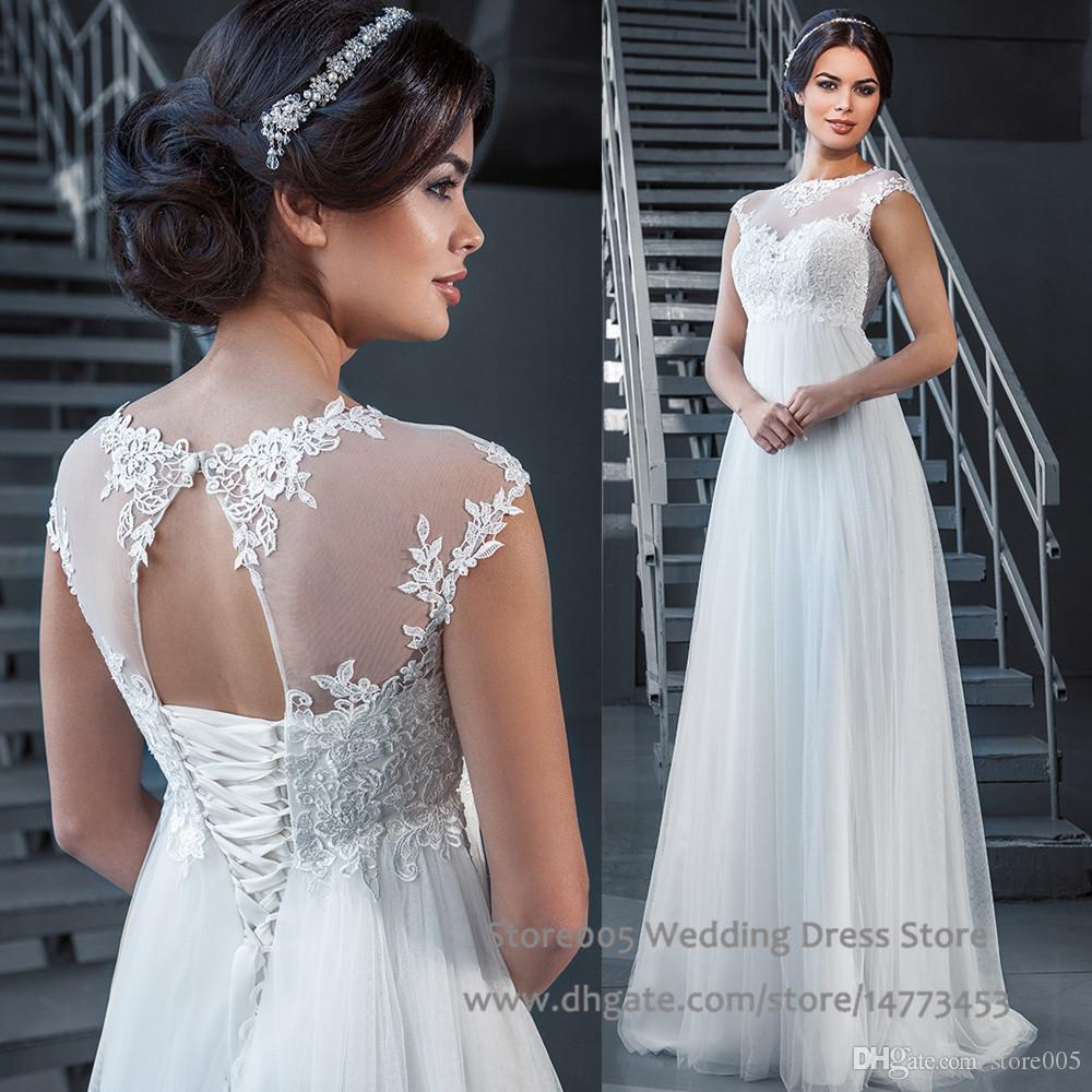 Discount dhgate tulle maternity wedding dresses 2016 a line discount dhgate tulle maternity wedding dresses 2016 a line vestido branco cap sleeve lace bridal gown for pregnant women floor length w4418 wedding gowns ombrellifo Images