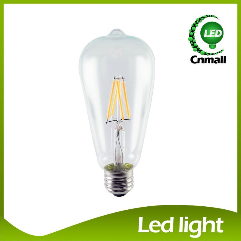 2015 E27 2W 4W 6W 8W Bombillas AC110-220V COB LED Bulb Filament Led Bulb Christmas Lights Home Lighting Ultra Bright LED Filament Bulbs