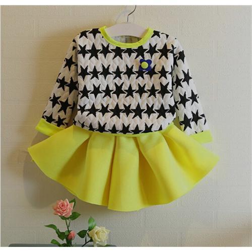 Großhandel Spezielle Design Sterne Kleid Für Mädchen 2 Stück Mädchen ...