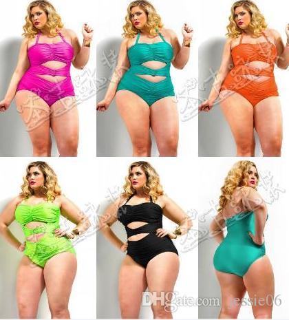 687247d1de 2019 Women Sexy Bandage Swimwear Plus Size One Piece High Waist Bikini  Swimsuit Push Up Monokini Halter Neck Bath Suit Gift Solid US12 20 From  Jessie06