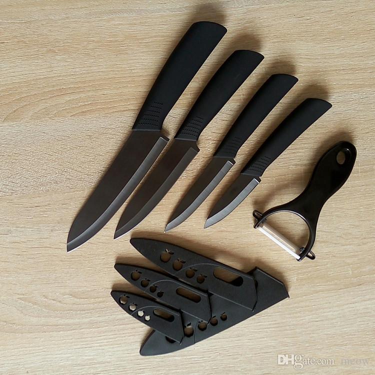 Cool Matt Black Ceramic Нож для ножа Набор 3