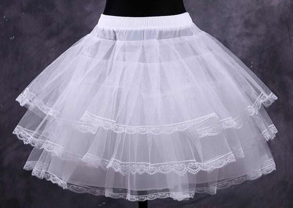الجملة الرخيصة بيضاء قصيرة الكرة ثوب نسائي فساتين تحتية القرينول قماش قطني اكسسوارات الزفاف حفلة تنكرية يتوهم النساء تنورة