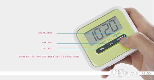 / 디지털 주방 LCD 디스플레이 타이머 최대 카운트 다운