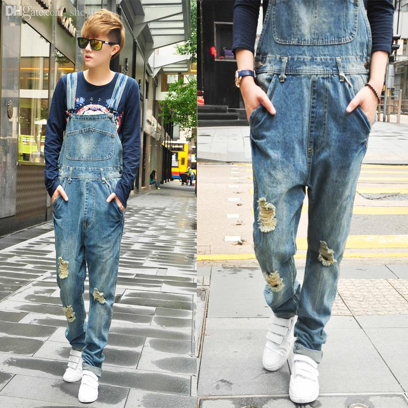 c318e8ca5c 2019 Wholesale 2015 Men Jumpsuits And Rompers Men Jeans Long Jeans Jumpsuit  Men Jumpsuit Romper Overall Jean From Sheju