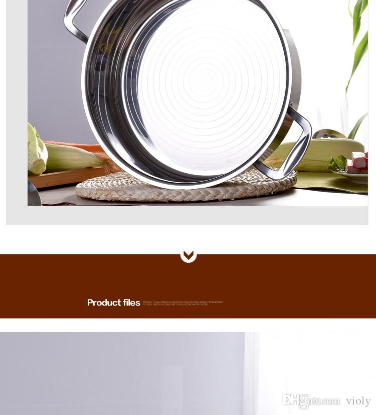 High quality commercial Non-stick pan pot thick stainless steel household soup pot cooker dedicated mandarin duck pot stockpot
