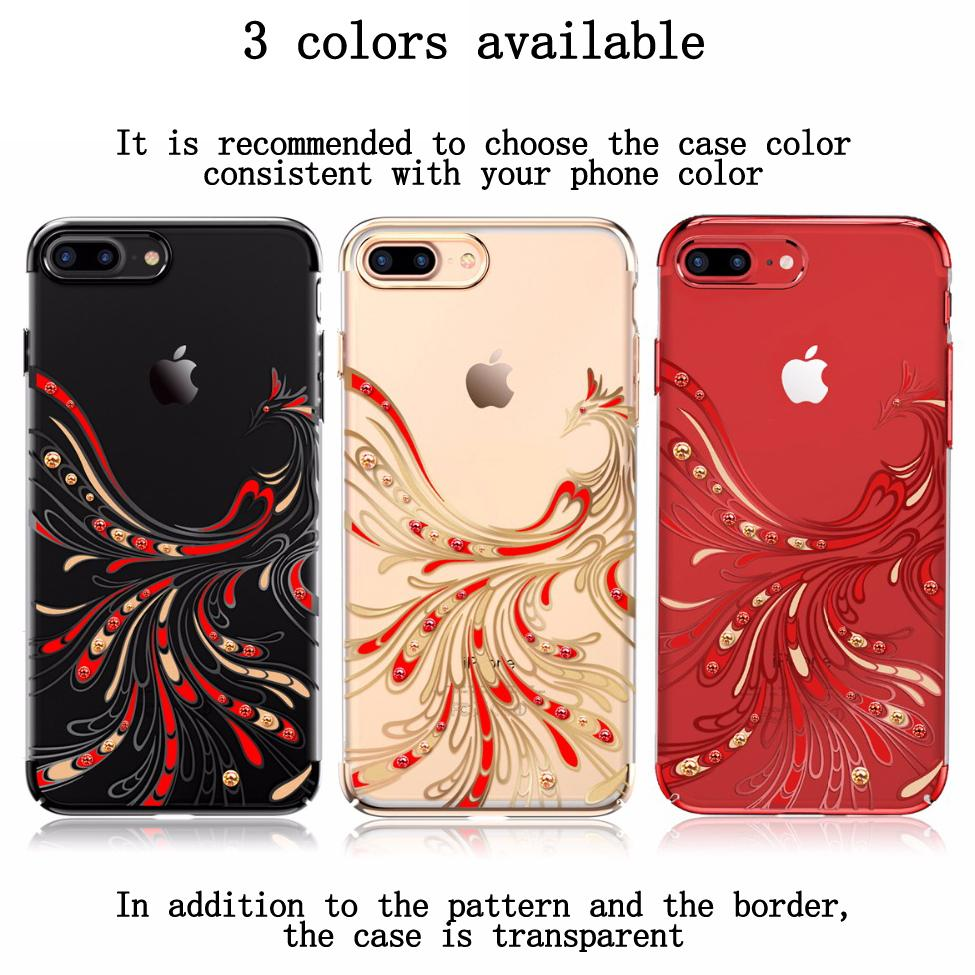 fashion luxury cover for iphone 7 case transparent hard ultra thin