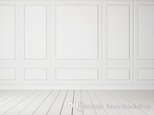 Thin Vinyl Photography Background Computer Printed: White Wall Printed Indoor Studio Photography Backdrops