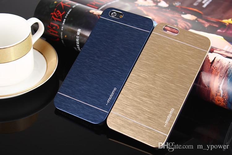 Free DHL Ultra thin Motomo Brushed Brush Aluminium Metal Slate Hard Back Case Cover For iphone 6 4.7 inch iphone 6 plus