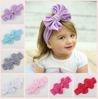 Großhandel Säugling Bogen Stirnbänder Mädchen Baumwolle Headwear ...
